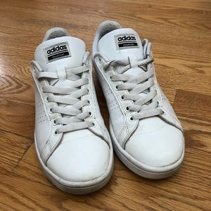 White Leather Adidas Sneakers
